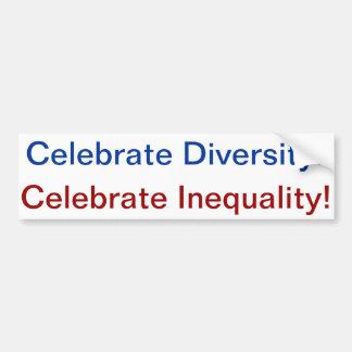 diversity=inequality car bumper sticker