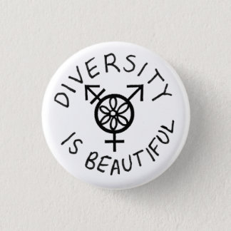 Diversity is Beautiful 3 Cm Round Badge