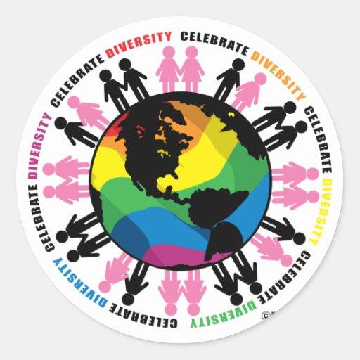 Diversity LGBT Round Sticker