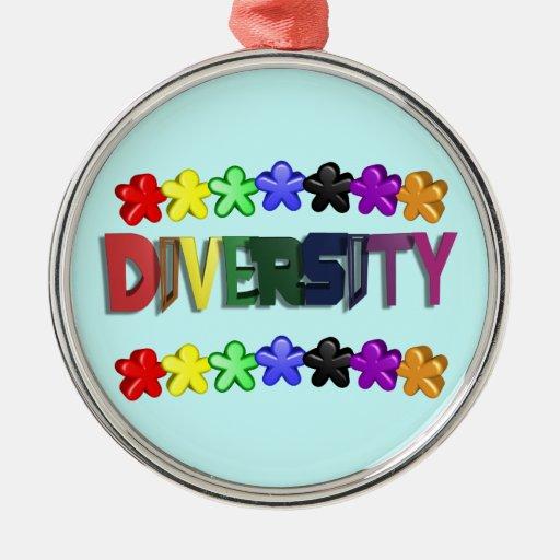 Diversity Lil People Circular Christmas Tree Ornament