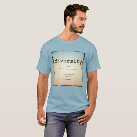 Diversity Men's Basic T-shirt Stonewashed Blue