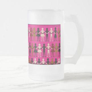 Diversity 'Paper dolls' color mug