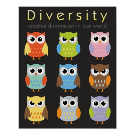 Diversity Posters For Children Zazzle