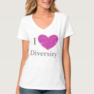 Diversity PRIDE Rainbow Parade Tshirt Pink Sparkly