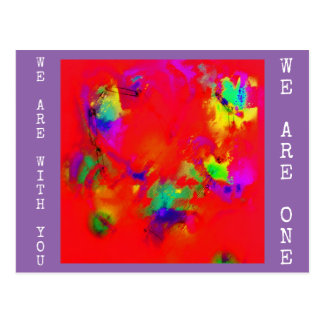 Diversity We Are With You|We Are One Heart Design Postcard