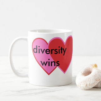 diversity wins coffee mug