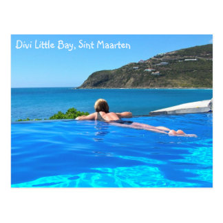 Divi Little Bay infinity pool, Sint Maarten - SXM Postcard