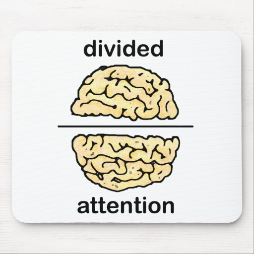 Divided Attention Mouse Pads