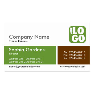 Divided Band - Avocado Green - Logo Business Card