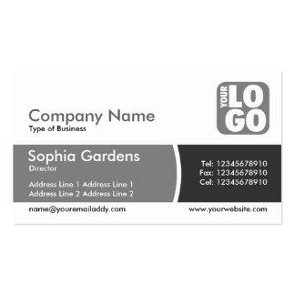Divided Band - Shades of Gray - Logo Business Card