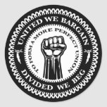Divided We Beg Round Stickers