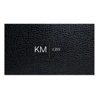 Divider Line with Black Tab / Leather Pack Of Standard Business Cards