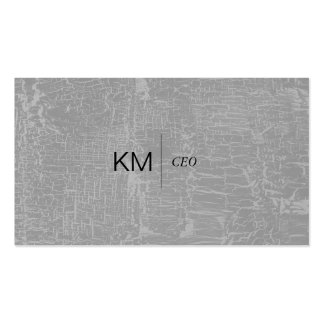 Divider Line with Black Tab / Marbled Gray Pack Of Standard Business Cards
