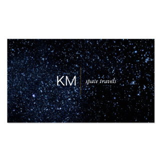 Divider Line with Black Tab / Night Sky Pack Of Standard Business Cards