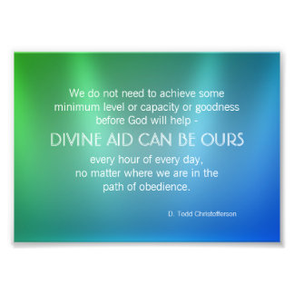 Divine Aid Inspirational Quote Art Photo