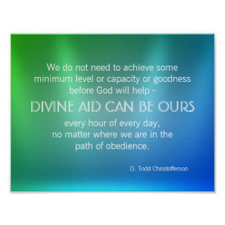 Divine Aid Inspirational Quote Poster