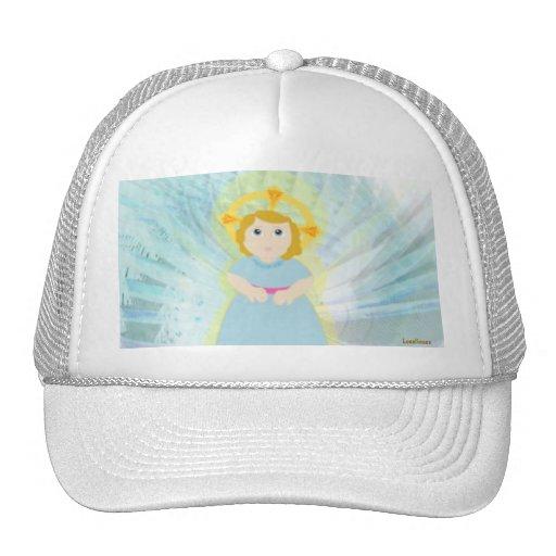 Divine Child Dazzling Blue Angel's Wings Cap Trucker Hat