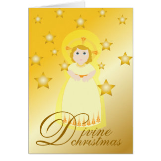 Divine Christmas-Customize Greeting Card