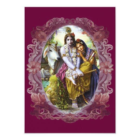 Divine Couple Radha Krishna Card