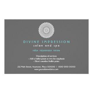 Divine Cyan Impression Horizontal Full Color Flyer