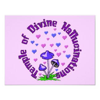 Divine Hallucination Temple 11 Cm X 14 Cm Invitation Card