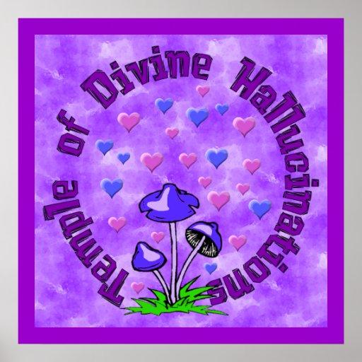 Divine Hallucination Temple Posters