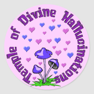 Divine Hallucination Temple Round Sticker