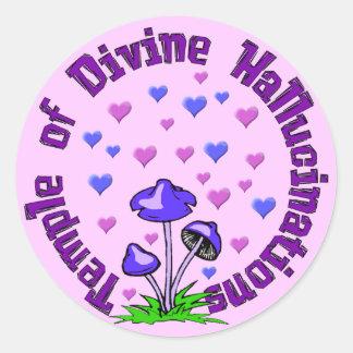 Divine Hallucination Temple Round Sticker