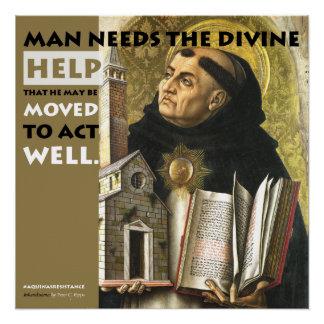 Divine Help Aquinas Resistance poster