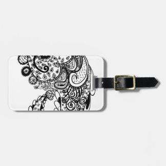Divine Paisley Luggage Tag