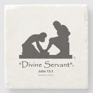 """Divine Servant"" 4"" Stone Coaster"