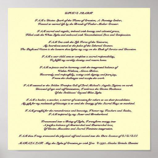 Divine Spark Meditation - Customized Poster