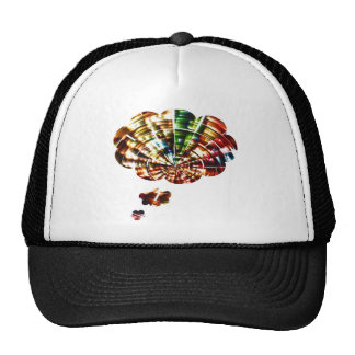Divine Thoughts - Red Sparkle Cosmic Art Mesh Hats