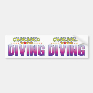 Diving 2 Obsessed Bumper Sticker