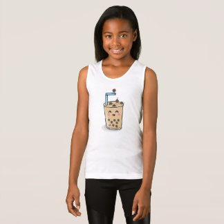 Diving Boba Pearl Tea Girls Tank