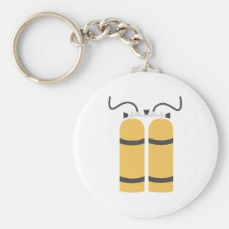 Diving bottles basic round button key ring