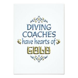 Diving Coach Appreciation 13 Cm X 18 Cm Invitation Card