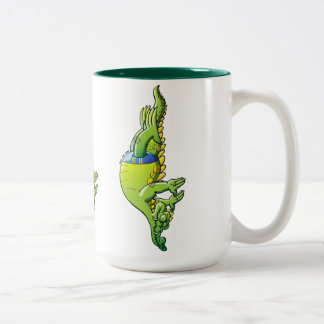 Diving Crocodile Two-Tone Coffee Mug