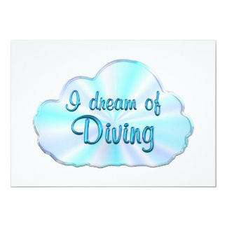 Diving Dreamer Invitations