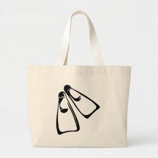 Diving - Fins Large Tote Bag