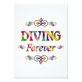 Diving Forever Personalized Invite