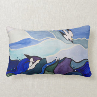 Diving Gannets Painting Cushion