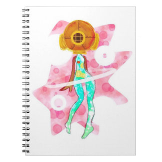 Diving Girl Note Books