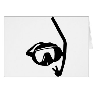 diving goggles and snorkel card