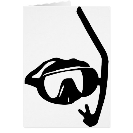 diving goggles and snorkel cards