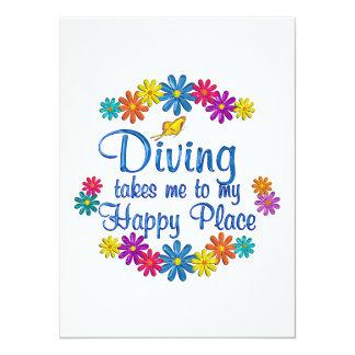 Diving Happy Place Custom Invites