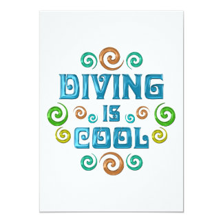 Diving is Cool 13 Cm X 18 Cm Invitation Card