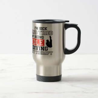 diving is my therapy travel mug