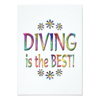 Diving is the Best 13 Cm X 18 Cm Invitation Card