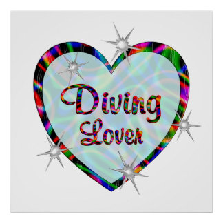 Diving Lover Posters